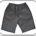 Boys Pinstripe Denim Shorts