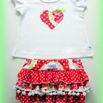 MaisyMoo Designs ROSIE Ruffled Pom Pom Bott's & Top