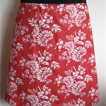 Red & White Skirt with Bamboo Stretch Waist