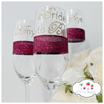 Personalised Guest Glasses - Glitter Glass x 24