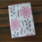 Vinyl Passport Cover Case Holder - Pink Flower 3