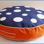 Large Toadstool / Mushroom Floor Cushion: Boys Classic Blue