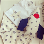 Starry night PJ set and softie rattle- Size 2