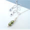 Two Peas In A Pod Personalized Lariat Branch Necklace