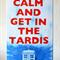 Keep Calm Doctor Who Canvas Art