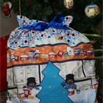 Personalised Santa sack | Paddington Bear | Cotton