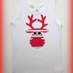 MaisyMoo Designs - 'Stripey Rudolph' Singlet