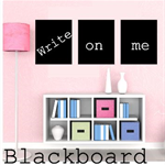 3 Blackboad Chalkboard Vinyl Decal - Peel n Stick-Free Shipping