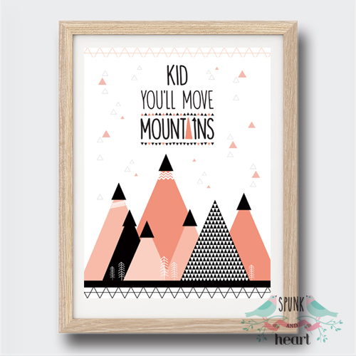 Nursery Ideas And Décor To Inspire You: Kid You'll Move Mountains Print Wall Art Print Decor Baby