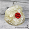 Cute White Old School Telephone Paperweight / Ornament Solid Button Filled Resin
