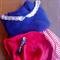 Knit cotton fashion top blue white summer beach tee shirt