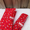 Red Nappy Wallet and Change Mat