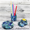 Coasters - Blue Buttons For Drink or as a Paperweight - Single - Resin