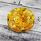 Yellow Buttons Drink coaster / paperweight - SINGLE - Resin