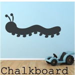 Caterpillar Blackboard Chalkboard Vinyl Decal - Peel n Stick- Free Shipping/