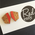 Red Sprinkle Wooden Studs