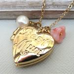 Mothers Locket Gold Heart Keepsake Locket