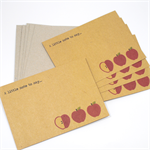 Notecard Pack - Red Apples - Set of 5 Notecards and Envelopes - NOT005