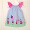 Boo! Designs Light Blue Flutter Sleeve Dress Size 1