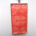 RECTANGLE SHABBY CHIC PENDANT RED