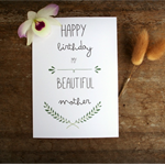 Birthday Card for Mum, Card Mother,