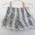 """Purple Rose"" Vintage Cotton Shorts, Size 1 and 2