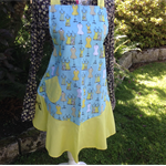 Yellow & Blue Apron: Dress Print 