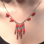 Sterling Silver / Red Coral necklace