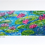 Showers on the Lily Pond (print)