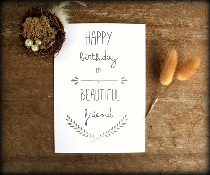 Best Friend Birthday Card, Happy Birthday Card, Greeting Card