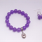 Silver and Purple/Lavender Jade Bracelet and Earring Set