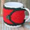 Perfect Stocking Filler Handmade Crochet Mug Cosy/Jar Cover ~ Christmas Gift