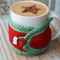 SALE Stocking Filler Red and Green Mug Cosy ~ only 1 available ~ Ready to post