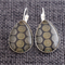 Circle Dots ~ Teardrop Lever Back Earrings