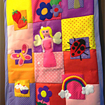 """Fifi fairies magical garden"" play mat"