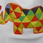 GEO PRINT ELEPHANT ONESIE SIZE 00