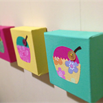 """Cup cakes"" wall canvases"