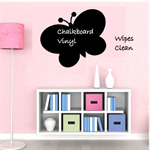 Butterfly Chalkboard Vinyl Decal - Peel n Stick- Free Shipping/CHALK PEN