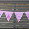 Princess Pink Decorated Fabric Bunting