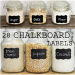 28 Scalloped Rectangle  Chalkboard Labels Peel n Stick - Free Shipping/Chalk Pen