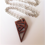 Tasmanian Myrtle geometric detailed pendant