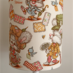 Handmade Lampshade - 1950s Nursery Fabric