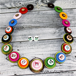 Instagram Photography Camera Buttons Necklace Button Jewellery - Earrings