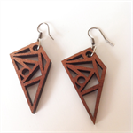 Tasmanian Myrtle geometric detailed earrings