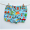 Size 0-3M - Aqua Camping Out Shorties Nappy Cover - - ready to post