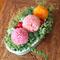 "Preserved Flower Arrangement "" Ping Pong - Pink"""