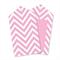 Chevron Pink Tags x12