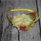 Yellow and white flower arrangement Headband with Assorted Embellishments