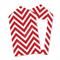 Chevron Red Tags x12