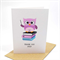 Thank You Teacher Card - School - Owl on Books - TEA002